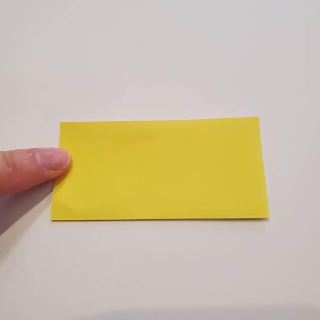 折り紙のひまわり メダルとコースターの折り方作り方①花びら(2)