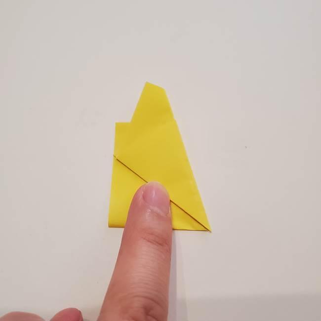折り紙のひまわり メダルとコースターの折り方作り方①花びら(4)