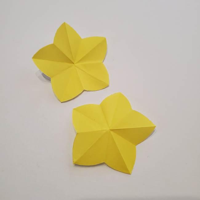折り紙のひまわり メダルとコースターの折り方作り方①花びら(9)