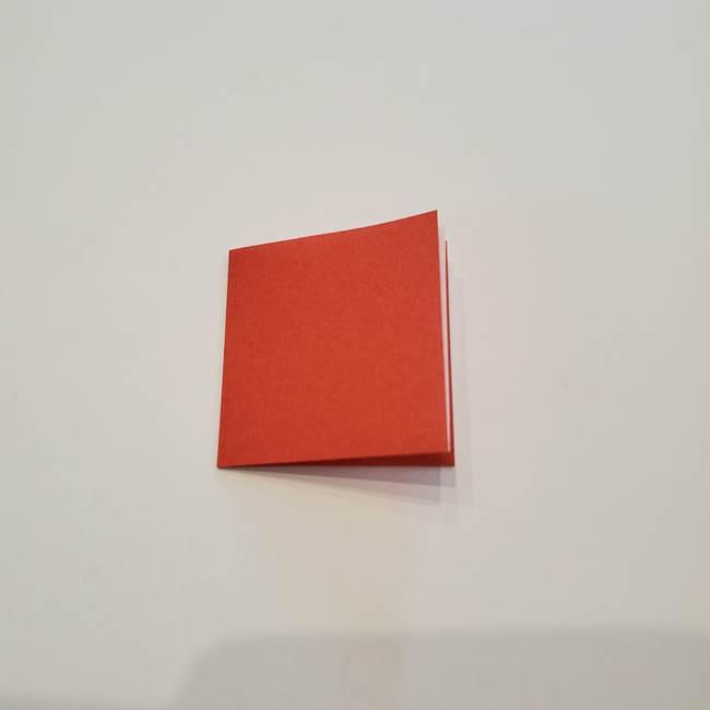折り紙のひまわり メダルとコースターの折り方作り方②中心(3)