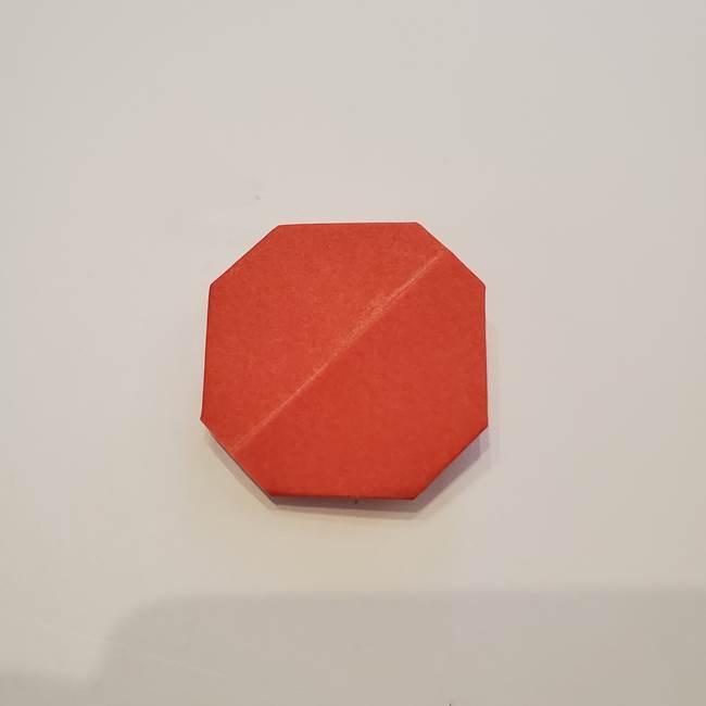 折り紙のひまわり メダルとコースターの折り方作り方②中心(7)