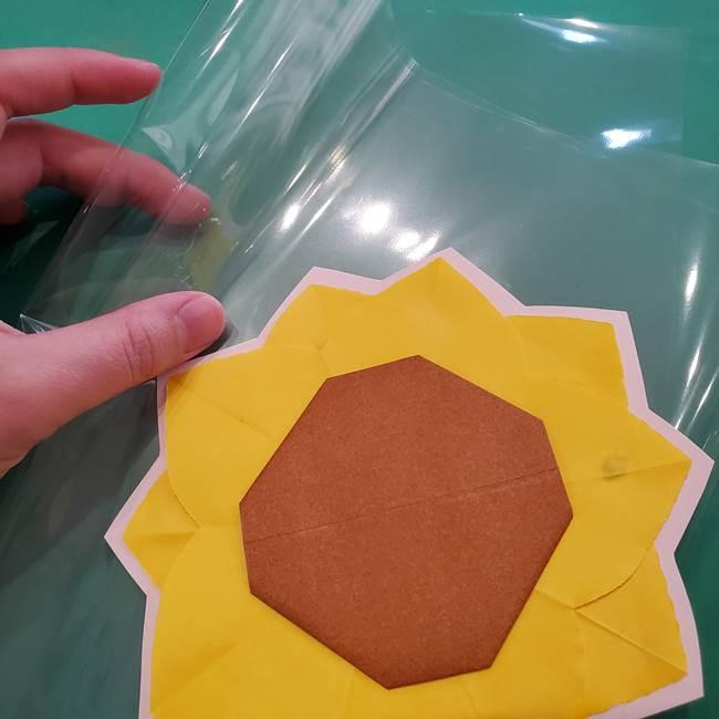 折り紙のひまわり メダルとコースターの折り方作り方③コースター(4)