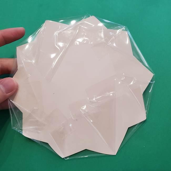 折り紙のひまわり メダルとコースターの折り方作り方③コースター(6)