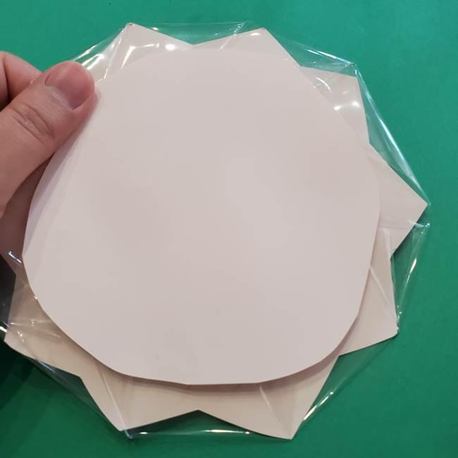 折り紙のひまわり メダルとコースターの折り方作り方③コースター(7)