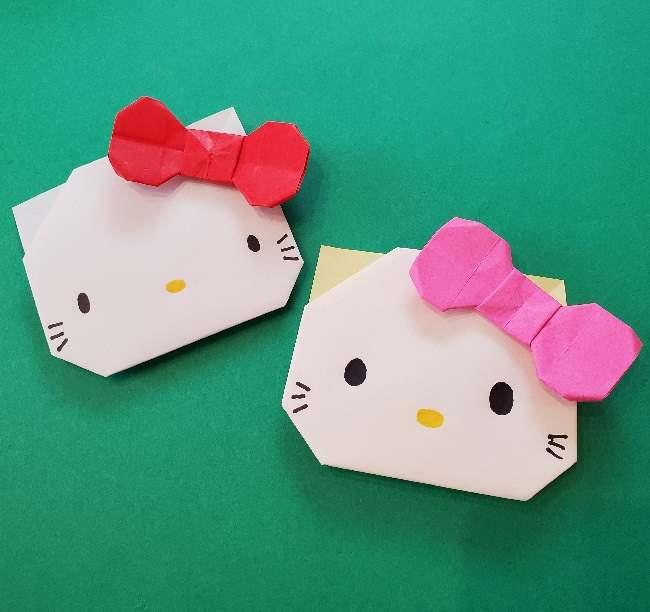 折り紙のキティーちゃんの折り方☆簡単かわいい猫キャラクター