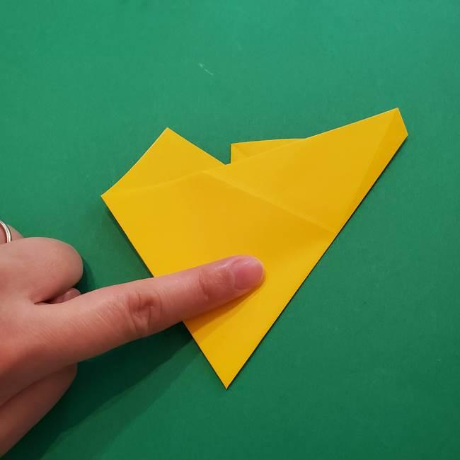 折り紙の星を1枚でつくる難しい作り方折り方①五角形(10)