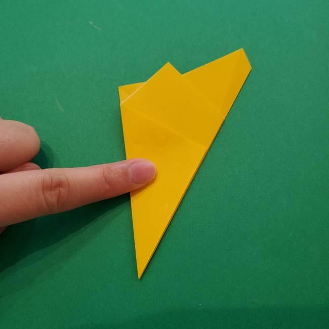 折り紙の星を1枚でつくる難しい作り方折り方①五角形(11)