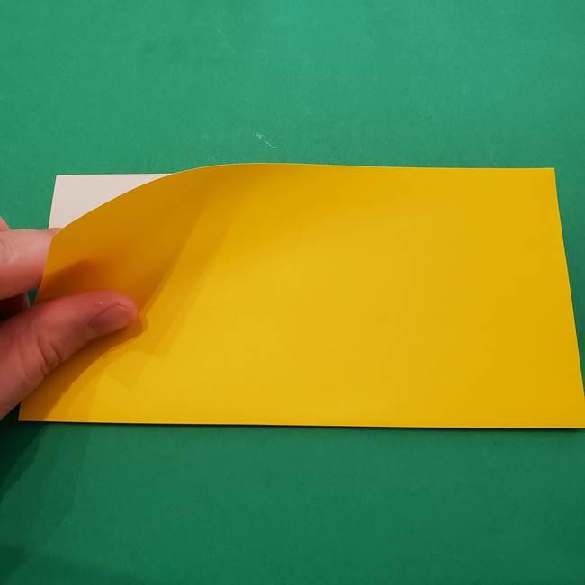 折り紙の星を1枚でつくる難しい作り方折り方①五角形(2)