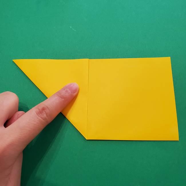 折り紙の星を1枚でつくる難しい作り方折り方①五角形(3)