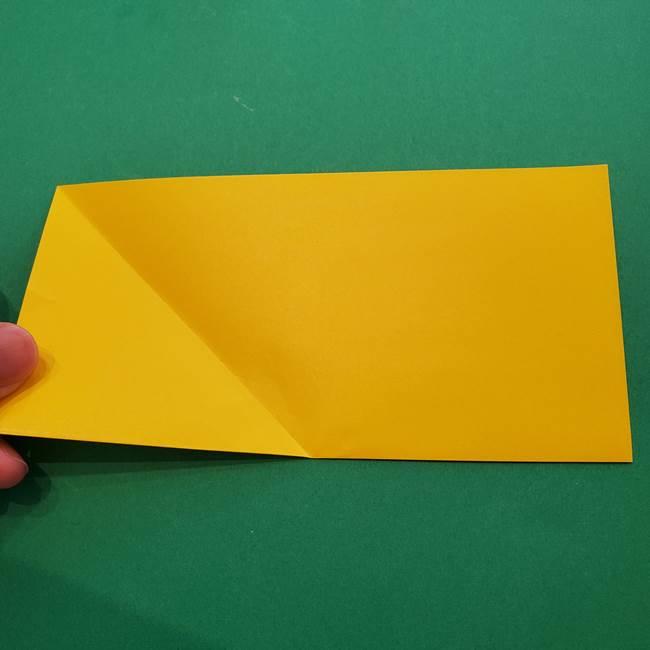 折り紙の星を1枚でつくる難しい作り方折り方①五角形(4)