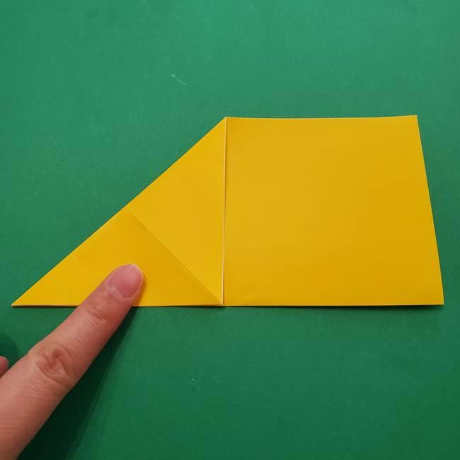 折り紙の星を1枚でつくる難しい作り方折り方①五角形(5)