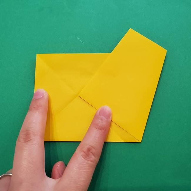 折り紙の星を1枚でつくる難しい作り方折り方①五角形(7)