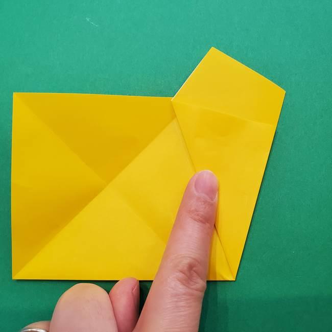 折り紙の星を1枚でつくる難しい作り方折り方①五角形(8)