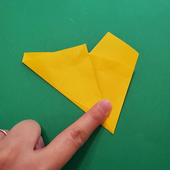 折り紙の星を1枚でつくる難しい作り方折り方①五角形(9)
