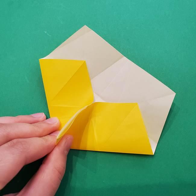 折り紙の星を1枚でつくる難しい作り方折り方②折る(10)
