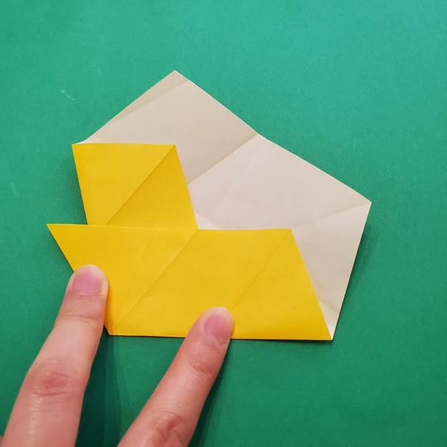 折り紙の星を1枚でつくる難しい作り方折り方②折る(11)
