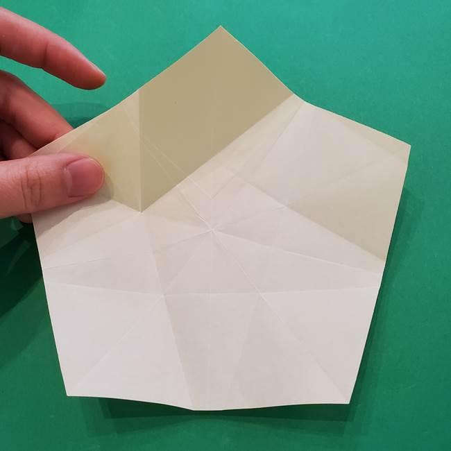 折り紙の星を1枚でつくる難しい作り方折り方②折る(13)