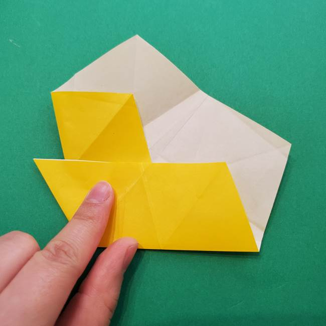 折り紙の星を1枚でつくる難しい作り方折り方②折る(14)
