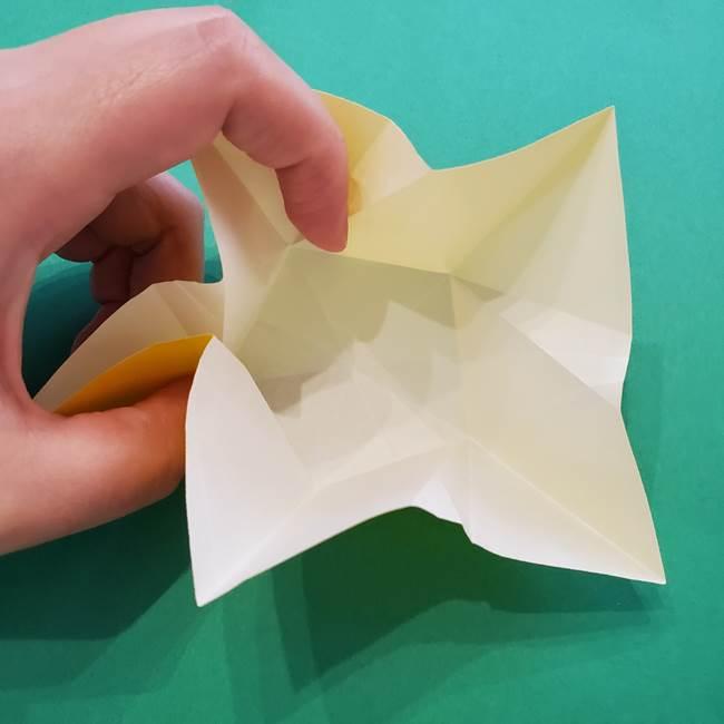 折り紙の星を1枚でつくる難しい作り方折り方②折る(16)