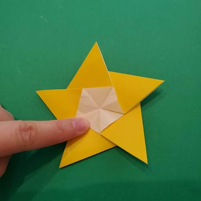 折り紙の星を1枚でつくる難しい作り方折り方②折る(18)