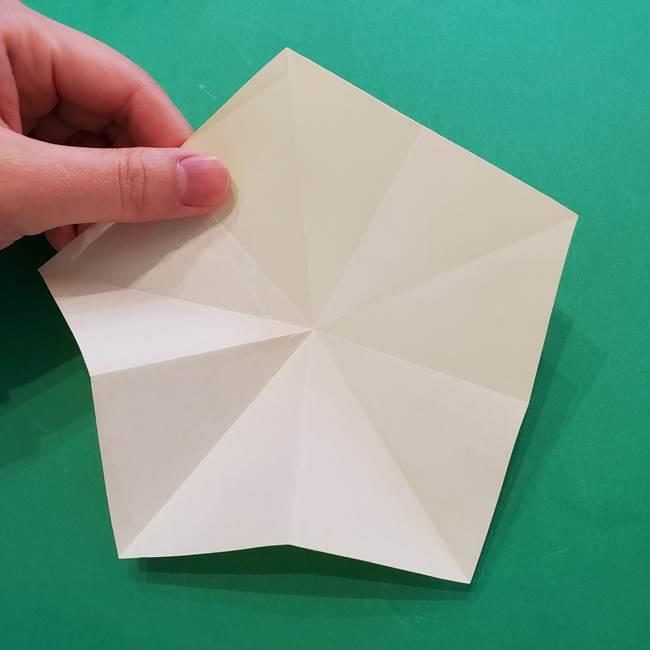 折り紙の星を1枚でつくる難しい作り方折り方②折る(2)