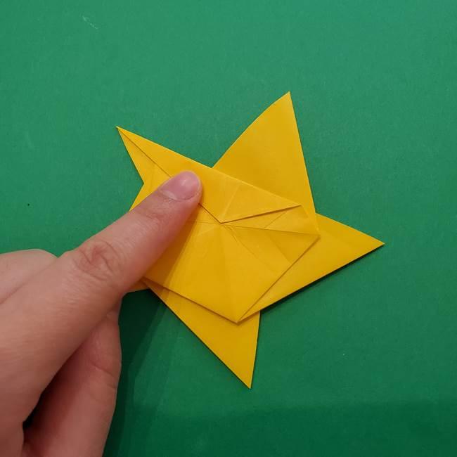 折り紙の星を1枚でつくる難しい作り方折り方②折る(21)