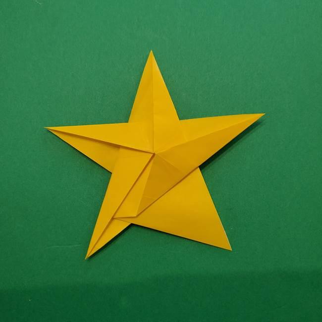 折り紙の星を1枚でつくる難しい作り方折り方②折る(23)