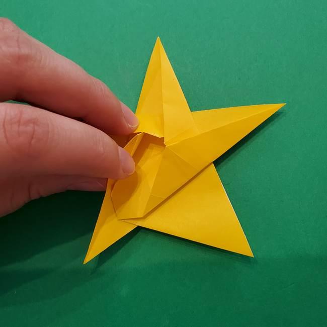 折り紙の星を1枚でつくる難しい作り方折り方②折る(24)