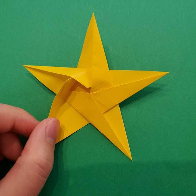 折り紙の星を1枚でつくる難しい作り方折り方②折る(25)