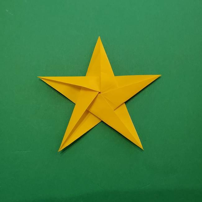 折り紙の星を1枚でつくる難しい作り方折り方②折る(26)
