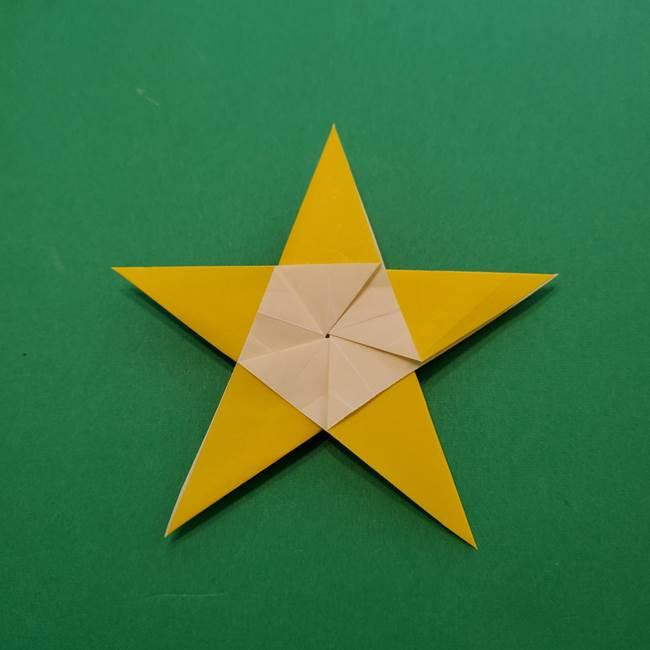 折り紙の星を1枚でつくる難しい作り方折り方②折る(27)