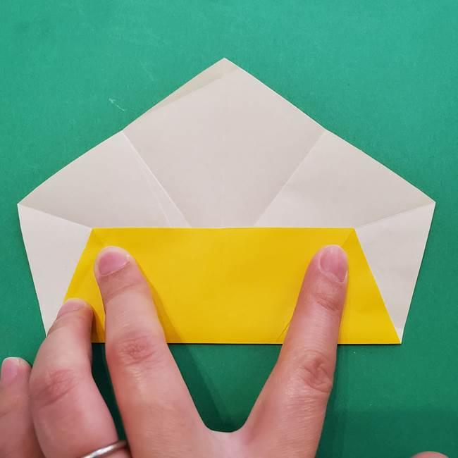 折り紙の星を1枚でつくる難しい作り方折り方②折る(3)
