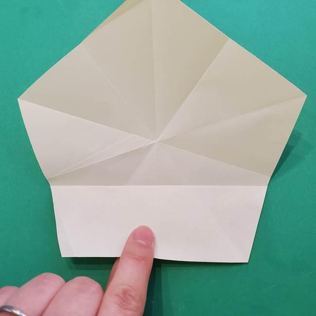 折り紙の星を1枚でつくる難しい作り方折り方②折る(4)