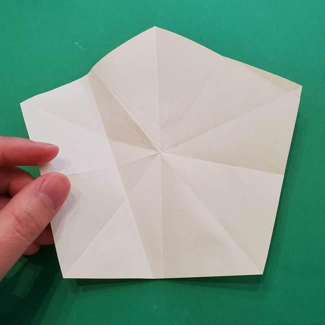 折り紙の星を1枚でつくる難しい作り方折り方②折る(5)