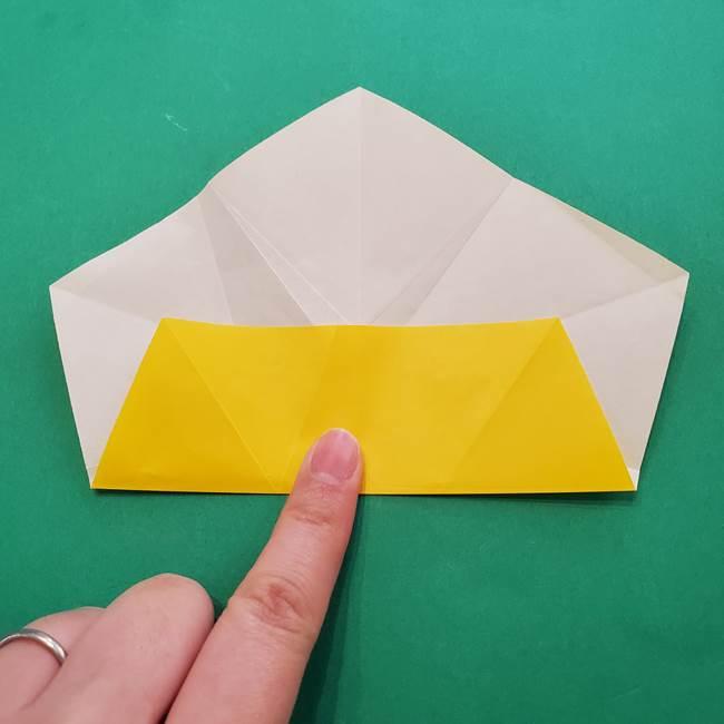 折り紙の星を1枚でつくる難しい作り方折り方②折る(6)