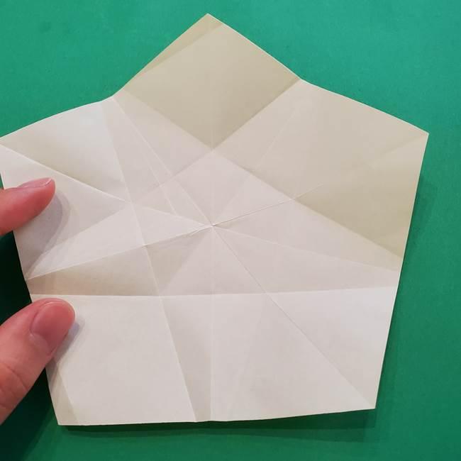 折り紙の星を1枚でつくる難しい作り方折り方②折る(7)
