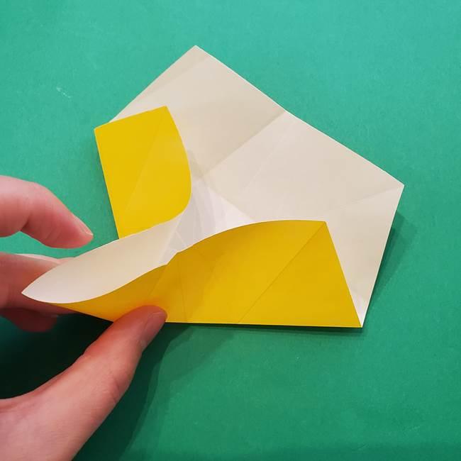 折り紙の星を1枚でつくる難しい作り方折り方②折る(9)