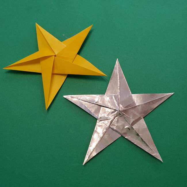 折り紙の星を1枚で!難しいけどかっこいい上級者向けの作り方折り方(平面)