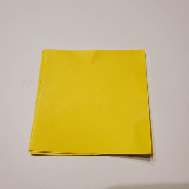折り紙の星(立体的で難しい)は6枚を組み合わせて多面体に☆(1)