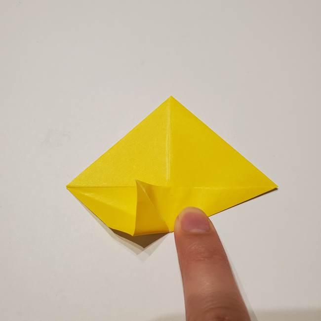 折り紙の星|立体的で難しい折り方作り方①パーツ(10)