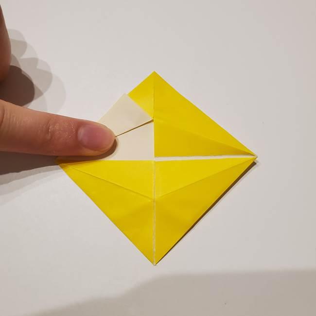 折り紙の星|立体的で難しい折り方作り方①パーツ(15)