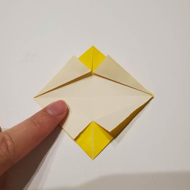 折り紙の星|立体的で難しい折り方作り方①パーツ(16)