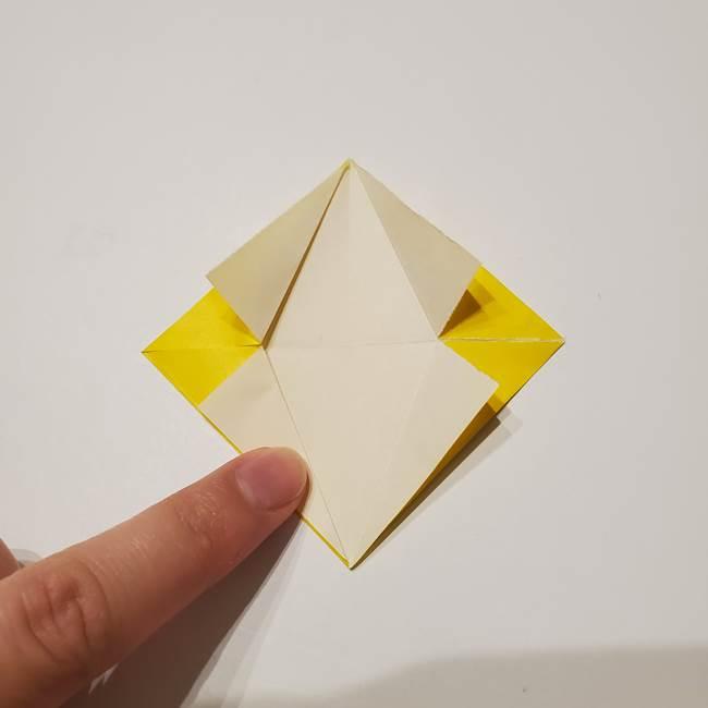 折り紙の星|立体的で難しい折り方作り方①パーツ(17)