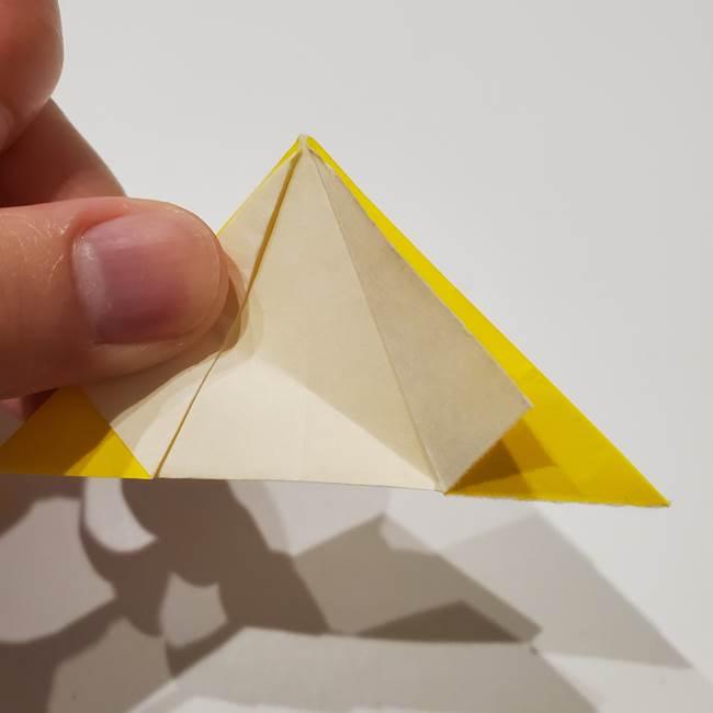 折り紙の星|立体的で難しい折り方作り方①パーツ(20)
