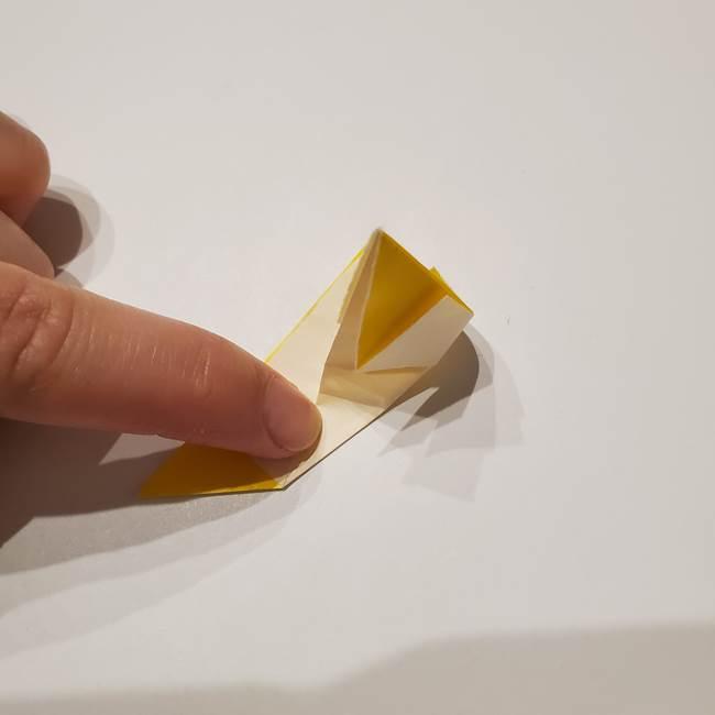 折り紙の星|立体的で難しい折り方作り方①パーツ(21)