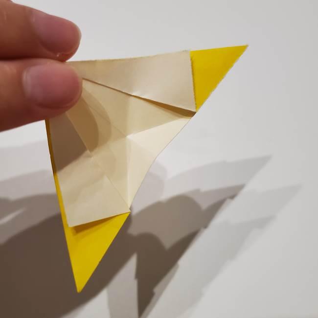 折り紙の星|立体的で難しい折り方作り方①パーツ(22)