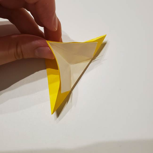 折り紙の星|立体的で難しい折り方作り方①パーツ(23)
