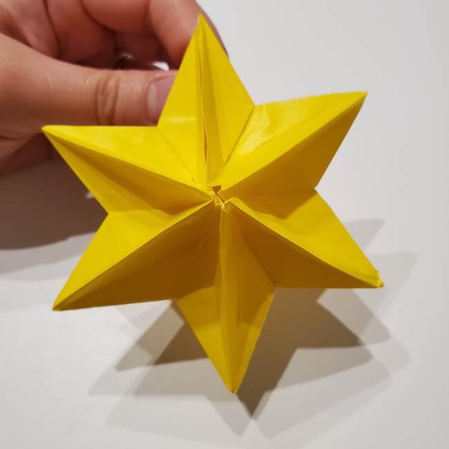 折り紙の星|立体的で難しい折り方作り方②組み合わせ(12)