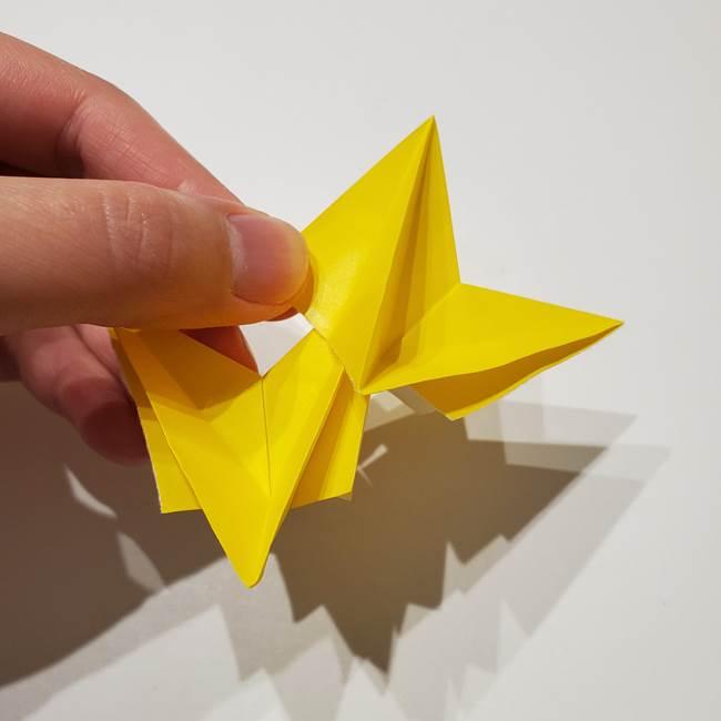 折り紙の星|立体的で難しい折り方作り方②組み合わせ(5)