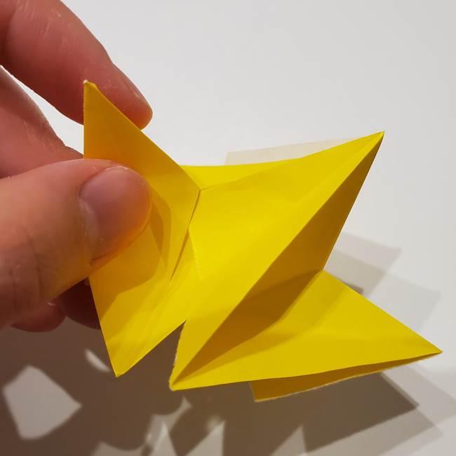 折り紙の星|立体的で難しい折り方作り方②組み合わせ(6)